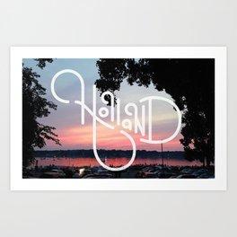 Holland Michigan, Fourth of July Art Print