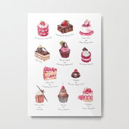 Cakes & Pastries #3 Metal Print