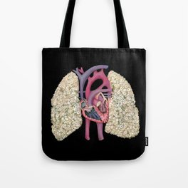 Fetal Heart with Baby's Breath Lungs Tote Bag