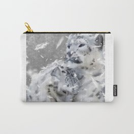 Snowy Leopards Carry-All Pouch