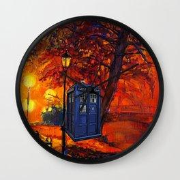 tardis art Wall Clock