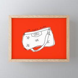 Fashion Bag Illustration Positive Self-Care Self-Love Quotes  Framed Mini Art Print