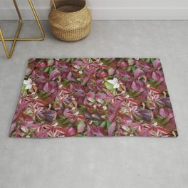 RED GRAPEVINE LEAVES Rug