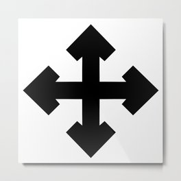 Pointed Krückenkreuz Crutch Cross Martial Heathen symbols Metal Print