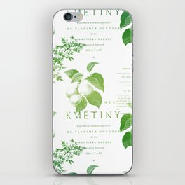 Vintage Botanical Book Cover Pattern iPhone Skin