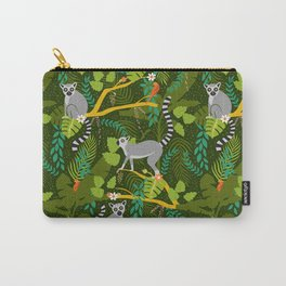 Lemurs in a Green Jungle Carry-All Pouch