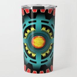 Abstract mechanical object Travel Mug