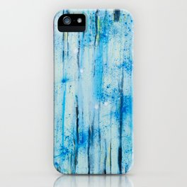 lines on blue background iPhone Case