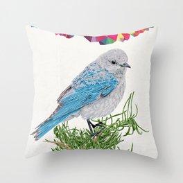 Mt Bluebird Throw Pillow