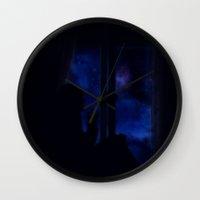 verse Wall Clocks featuring Uni-Verse by Yolanda García