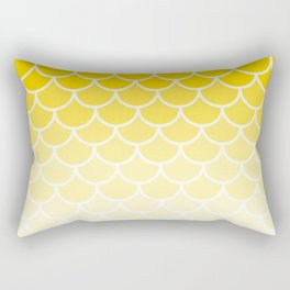 Ombre Fish Scale Pattern In Lemon Rectangular Pillow