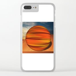 Autumn Marble Clear iPhone Case