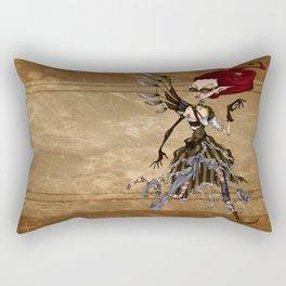 Steampunk running girl Rectangular Pillow