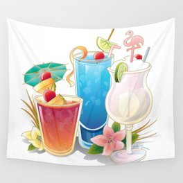 Tropical Drinks 3 Wall Tapestry