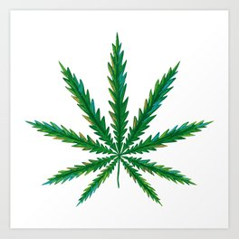 Marijuana. Cannabis leaf  Art Print