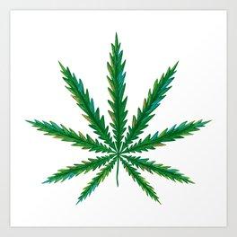 Marijuana. Cannabis leaf  Art Print