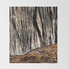 tree bark and wood Throw Blanket