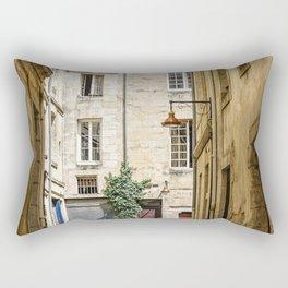 Narrow street in Bordeaux Rectangular Pillow