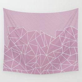 Ab Lines 45 Pink Wall Tapestry