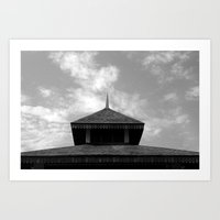 Traditional Roof Art Print