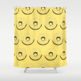 Yellow donuts Shower Curtain