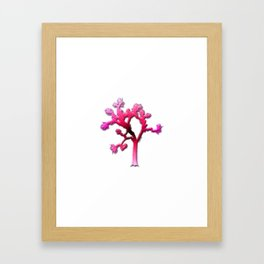Joshua Tree Strawberry Framed Art Print