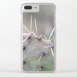 Texas Cactus Clear iPhone Case