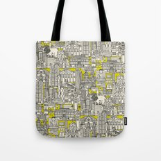 Hong Kong toile de jouy chartreuse Tote Bag