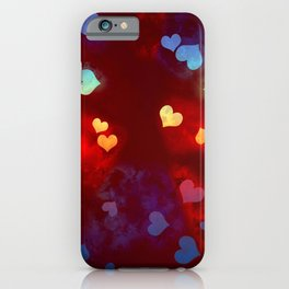 You make my heart sing - rainbow hearts iPhone Case