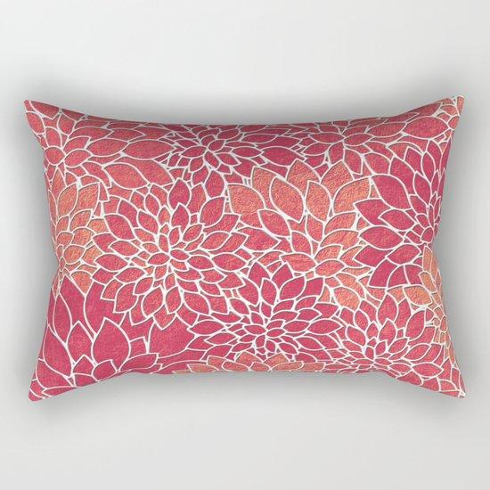 Floral Abstract 24 Rectangular Pillow