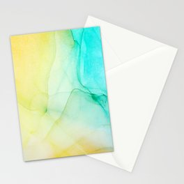 Beautiful abstract art of colorful fluid paint Stationery Cards