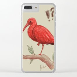Who are you calling a flamingo? Clear iPhone Case