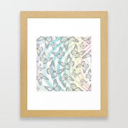 Butterflies and swirls Framed Art Print