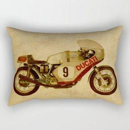 motorcycle number 9 vintage bacjground old logo Rectangular Pillow