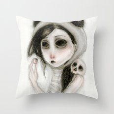 The inability to perceive with eyes notebook I Throw Pillow