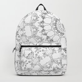 Cat Mandala Doodle Backpack