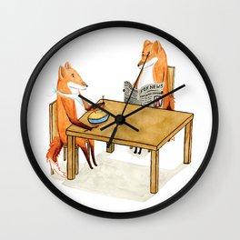 Foxy Dinner Wall Clock