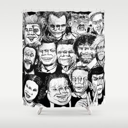 Dead Celebrities Shower Curtain