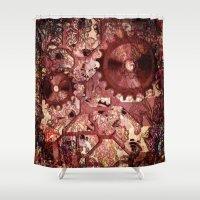 steampunk Shower Curtains featuring Steampunk by MehrFarbeimLeben
