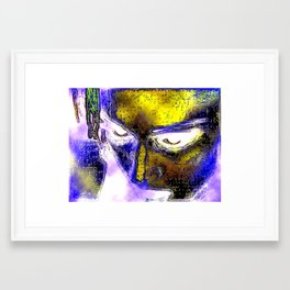 Power in a Face Framed Art Print
