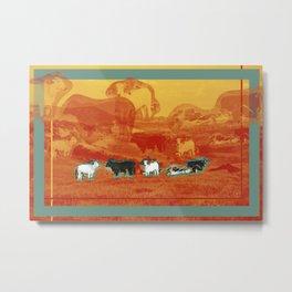 cattle field Metal Print