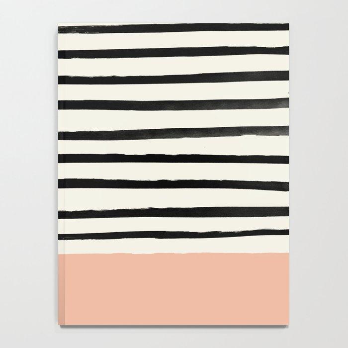 Peach x Stripes Notebook