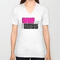 milwaukee V-neck T-shirts featuring Diva Days Milwaukee 2013 by ScubaTuba