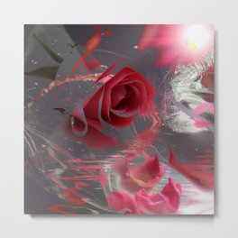 The Pink Flowers of That Majestic Dream! Metal Print