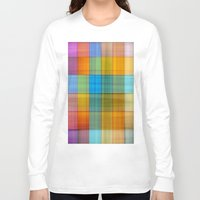 fabric Long Sleeve T-shirts featuring Fabric by RingWaveArt