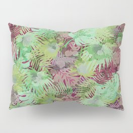 Seamless Pattern of Tropical Leaves II Pillow Sham
