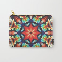 Ornate Mandala Motif Carry-All Pouch