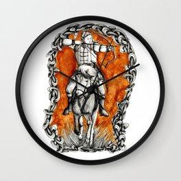 The fair huntsman Wall Clock