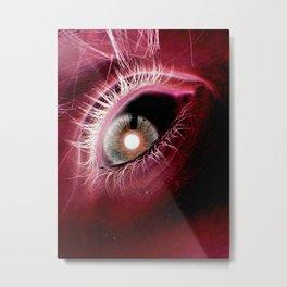 Scarlet Eye Metal Print