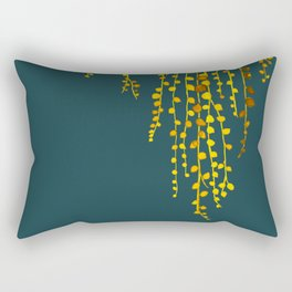 String of pearls #3 in yellow and blue Rectangular Pillow